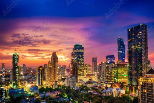 Fotobehang Bangkok Modern building increasing number in Bangkok