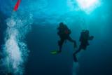 undersea maldives, two aqualungers - 189925065