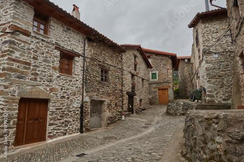 Zaldierna stone village in La Rioja province, Spain