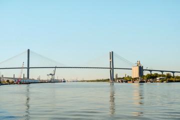 Suspension Bridge over the Savannah river