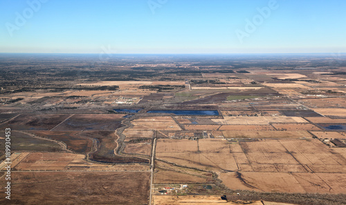 Fotobehang Zalm Texas Landscape Aerial View