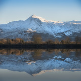 Beautiful Winter sunrise landscape image of Mount Snowdon and other peaks in Snowdonia National Park - 189933480