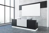 Modern office recpetion side - 189939053
