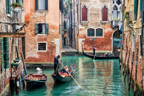 Foto op Canvas Venetie Venedig, Kanal