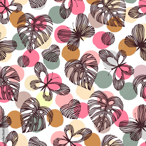 Seamless pattern with butterflies.  - 189946000