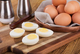 Sliced Hard Boiled Eggs - 189948403