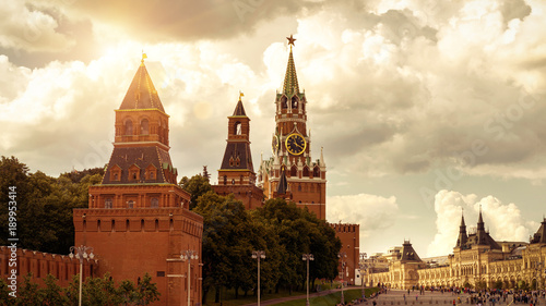 Poster Moskou Moscow Kremlin on the Red Square, Russia