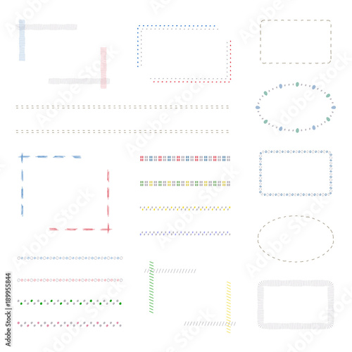 シンプル フレームセット / vector eps 10
