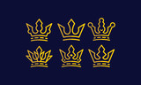 crown, kingdom, crown king, crown queen, power, jewelry, beautify, authority, gold, power, the power of the kingdom, the royal throne, monocline, line art, emblem symbol icon vector logo - 189964812