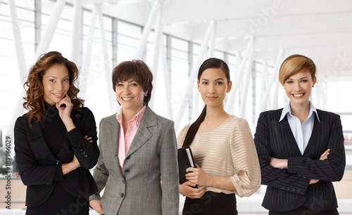 Diverse group of businesswomen at office