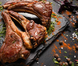 soft rack of lamb gourmet dish. traditional new zealand cuisine. ready made restaurant meal - 189972204