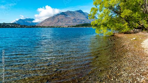 Foto op Canvas Blauwe jeans Lake Wakatipu, Queenstown, New Zealand