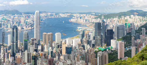 Keuken foto achterwand Panoramafoto s Hong Kong Skyline