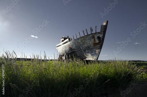Deurstickers Schipbreuk ICELAND