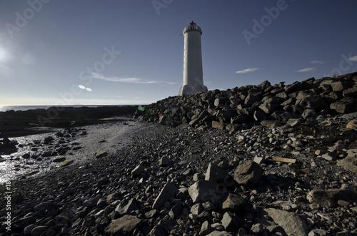 Fotobehang Vuurtoren ICELAND LIGHTHOUSE
