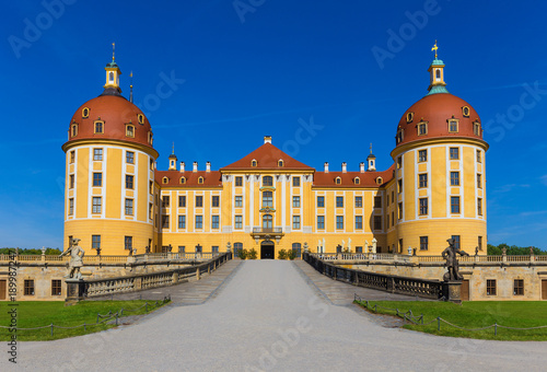 Castle Moritzburg near Dresden in Saxony, Germany. Filming location for the czech fairytale film