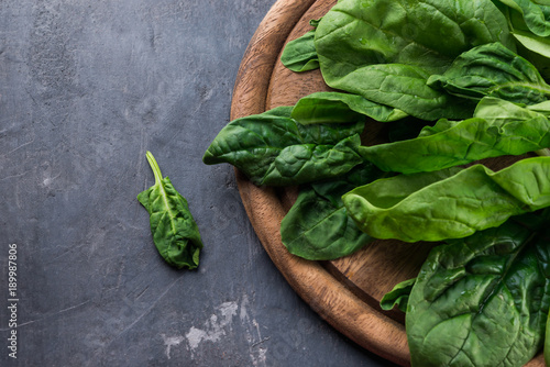 Fresh green on rustic background