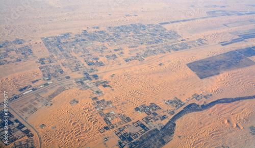 Deurstickers Abu Dhabi Aerial view of Liwa desert in UAE.