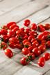 grupo de tomate cherry de diferentes variedades