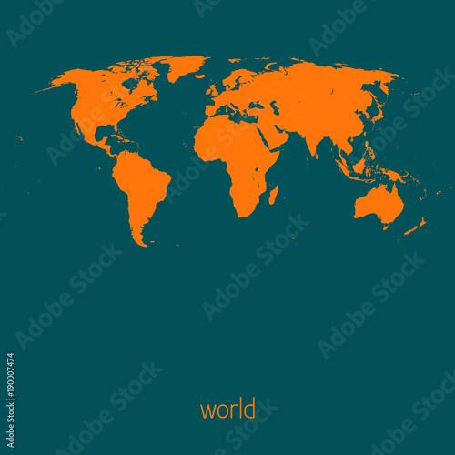 Fotobehang Wereldkaarten Simple map of the world. Vector