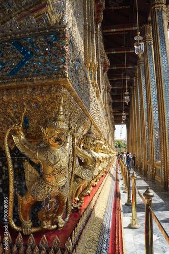 Fotobehang Thailand Detailaufnahme Thaitempel, Bangkok