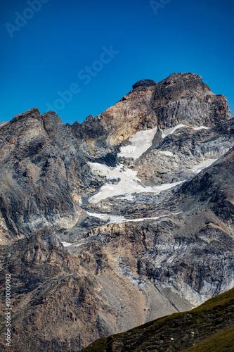 Fotobehang Grijs Massif rocheux parc de la Vanoise
