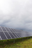 Solar Power Station on the autumn Meadow  - 190009674