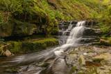 A waterfall in Blaen-y-glyn near Torpantau, Powys, Wales, UK - 190017477