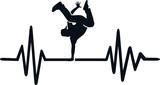 Breakdance heartbeat line