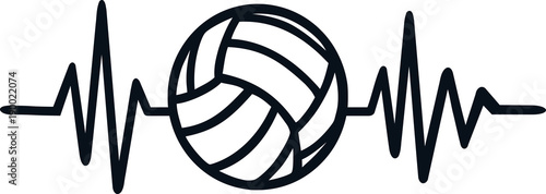 Volleyball heartbeat line
