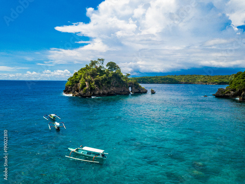 Foto op Plexiglas Tropical strand Christal bay Beach in Nusa Penida just off the island of Bali, Indonesia