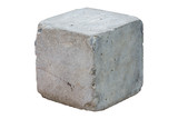 cement block isolated on white background. Clipping path - 190026621