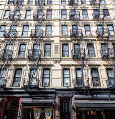 Old apartment building in the lower east side of Manhattan, New York City