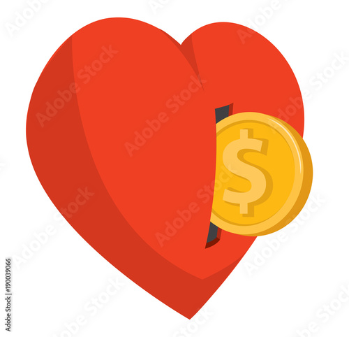 Coin entering heart