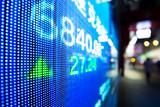 data of stock market on digital screen - 190042207