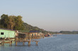 The fisherman village on the sea in Chanthaburi,Thailand