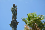 Column in memory of Holy Virgin Mary on the slopes of Mount Carmel in Haifa, Israel. - 190044064