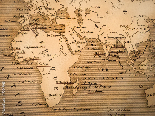 Fototapeta 古い世界地図