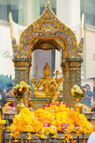 Bangkok, Thailand - January 27, 2018 : The Erawan Shrine in Bangkok. Thao Maha Phrom Shrine is a Hindu shrine in Bangkok