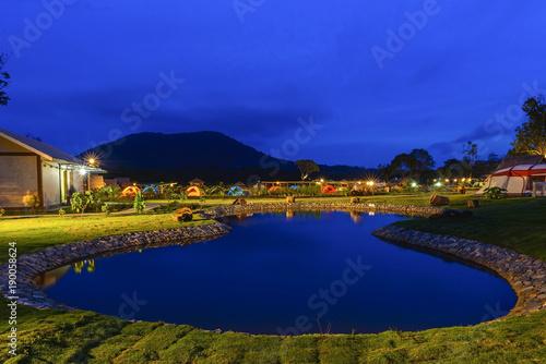 Foto op Plexiglas Donkerblauw Sunset View Bintan Batam Island Wonderfull Indonesia