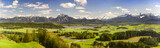 Panorama Landschaft im Allgäu bei Füssen im Frühling