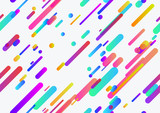 Seamless trendy neon lines pattern seamless background template - 190070483