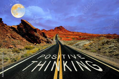 Poster Route 66 Positive thinking on the road