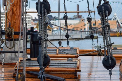 Keuken foto achterwand Schip Old Ship Deck