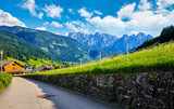 Austria country in Alps picturesque landscape with white cloud - 190078278