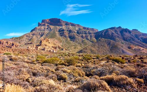 Fotobehang Blauw Rocks in Tenerife