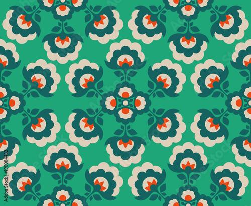 seamless floral vintage pattern - 190084482