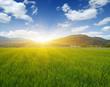 Quadro Mountain with the sun