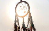 Dream catcher  vintage indian  sign and decoration  with sunrise background - 190089614