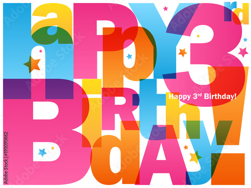 Happy 3rd Birthday Card Buy Photos Ap Images Detailview